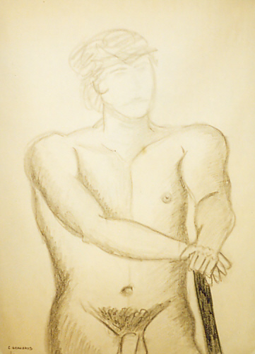 Nude Male Portrait. Painting 47. I took an art class at UMass Lowell.